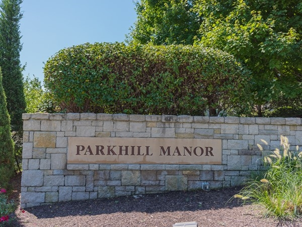 Parkhill Manor neighborhood entry monument