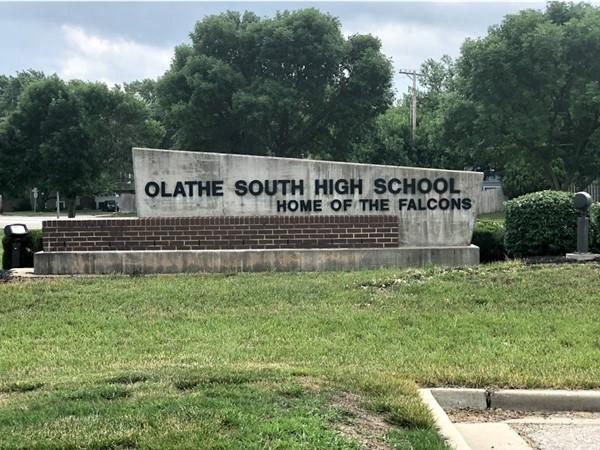 Olathe South High School is just a few minutes away from Cedar Ridge Park