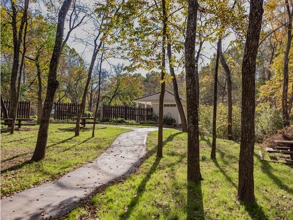 Picnic area in Forest Park Estates - near the stream