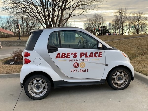 Abe's delivery car in Leavenworth County
