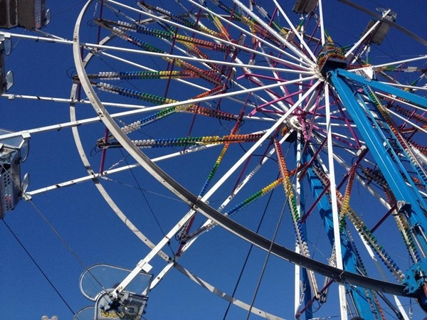 Carnival rides during Snake Saturday in the Northland