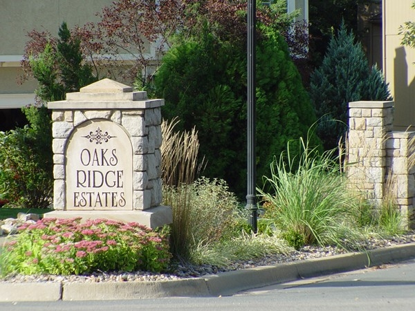 Entrance to Oaks Ridge Estates