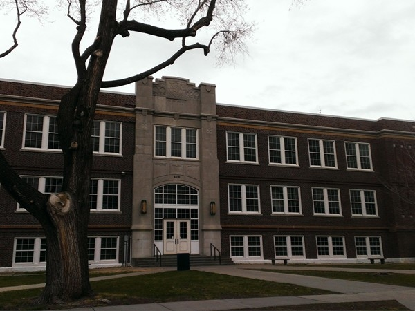 NKC High School front entry has welcomed students since the 1930s