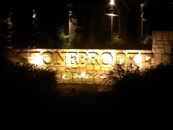 Beautiful Stonebrooke Estates tucked in for the night