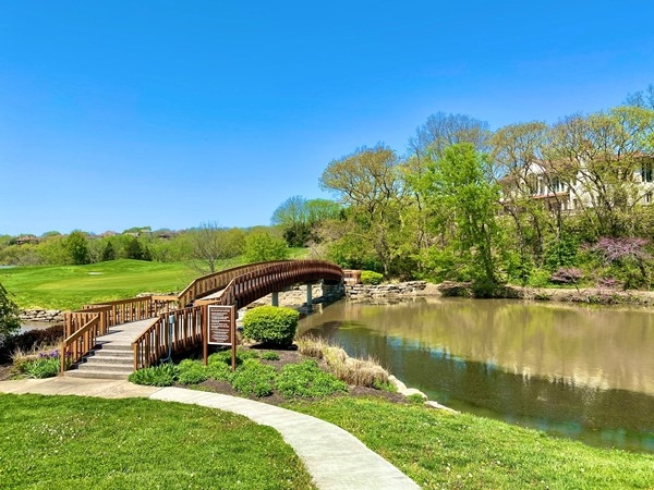 Perfect spring day to enjoy the walking trails in Cedar Creek