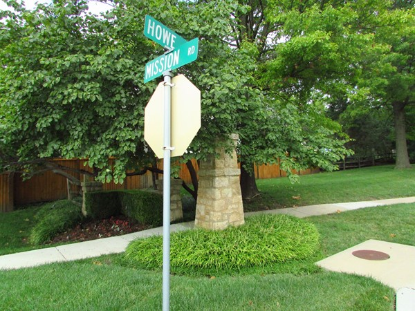 Northern entrance to the subdivision at Mission Road and Howe Lane