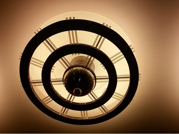 Original 1936 Art Deco lighting at the Kansas City Music Hall
