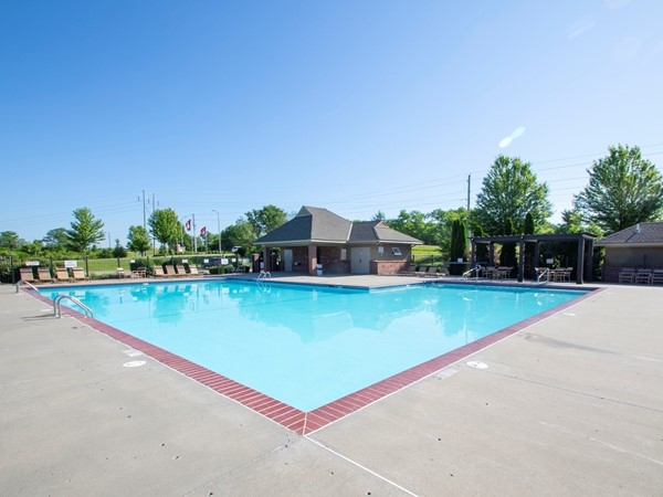 One of the two pools in Brentwood