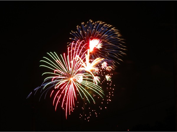 Fireworks at Overland Park's wonderful Independence Day Celebration