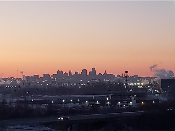 Morning view of downtown KC from Park Hill South HS.  They have the best view in the metro