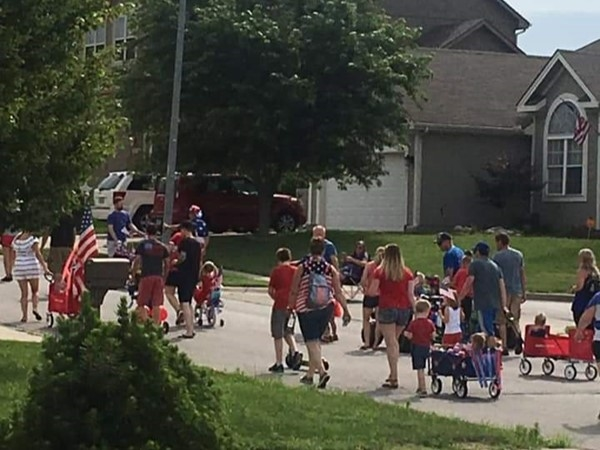 Who loves a neighborhood kiddie parade for the 4th? Happy Birthday America