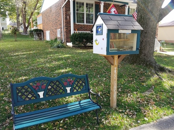 This Westboro homeowner built a little library for all to enjoy! Visit www.LittleFreeLibrary.org