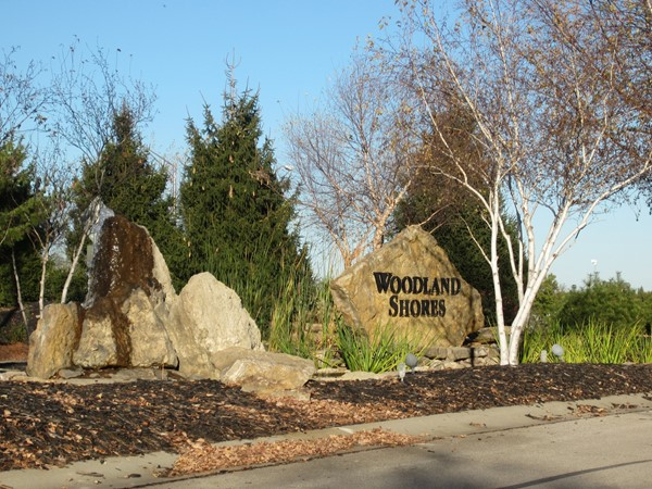 Woodland Shores entrance
