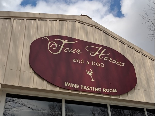 Four Horses and a Dog Winery! Locally owned and operated