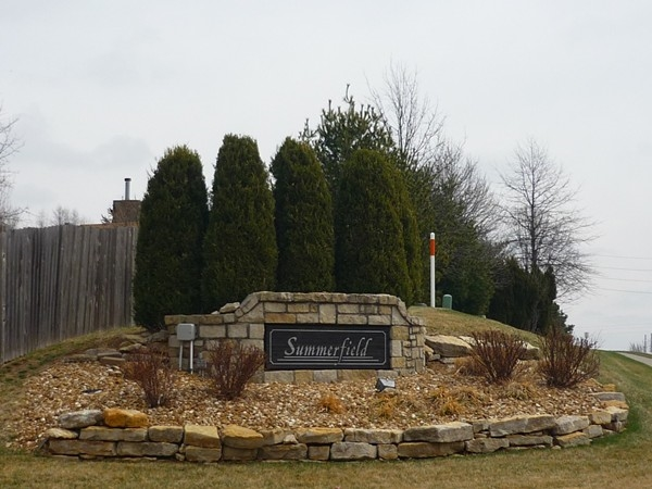 The sign at the entrance to Summerfield