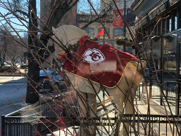 How awesome is this on the Plaza?  We are all proud of our Chiefs