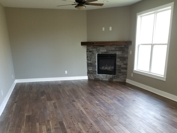 An awesome wood floor at Lakeshore Meadows Subdivision in Olathe