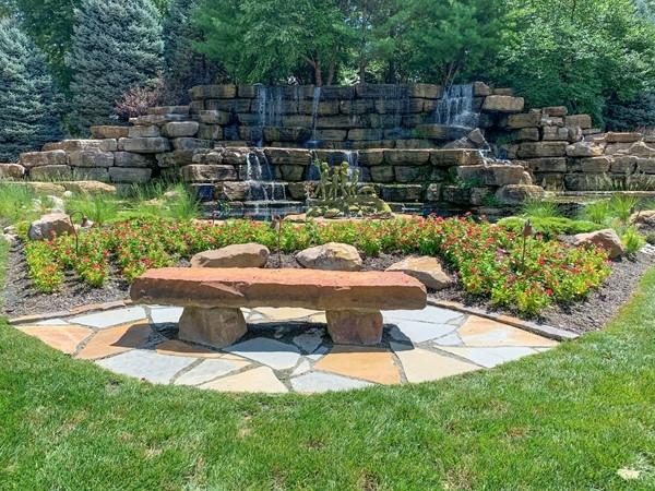 Stop and enjoy this lovely water feature when you visit