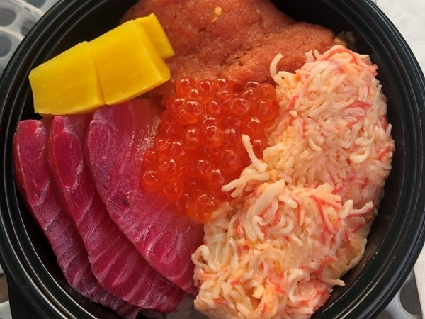 Poke bowl from Sushi MO, current Sushi vendor at Iron District