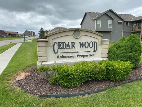 Cedar wood entrance sign