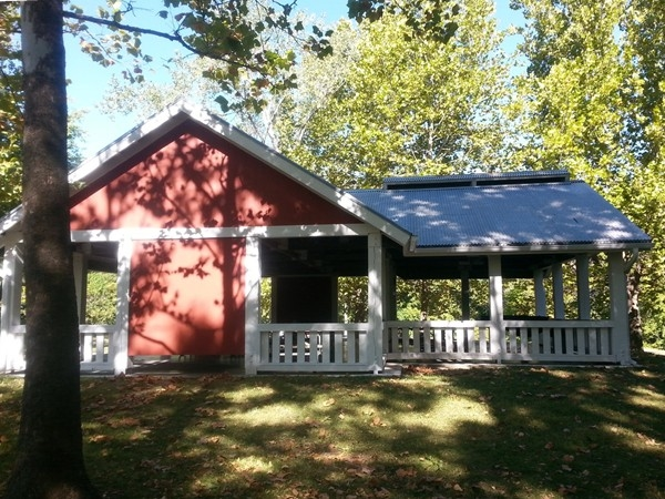Shelter House at Weston Bend State Park is a great place for a family picnic