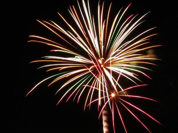 Fireworks display at Bishop Miege High School - July 3, 2015