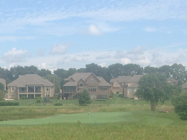 Overlooking the golf course in Woodneath Farms