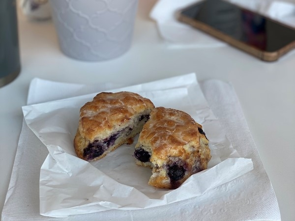 Stop what you're doing and order Blueberry Biscuits from Rise