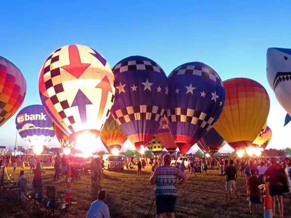 The annual Great MIdwest Balloon Festival graces the skies high over Olathe