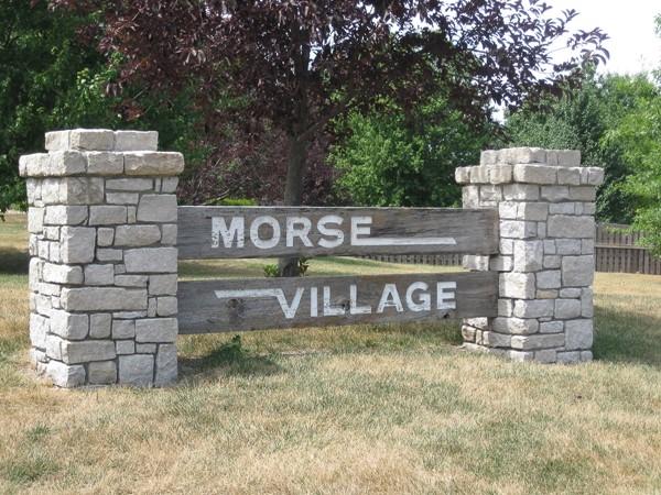 Morse Village entry monument