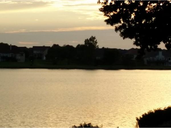 Sunset at Raintree Lake