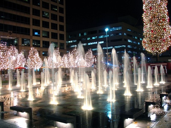 Festive Fountains at Crown Center
