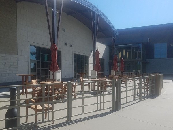 The Olathe Community Center's outdoor patio is included with wedding event rentals