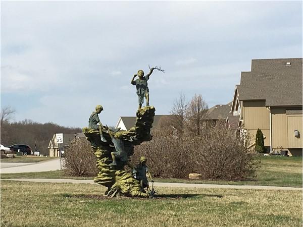 Beautiful statues in Seven Bridges subdivision. Platte City