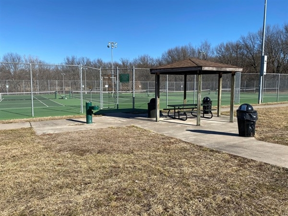 Tennis Courts at Santa Fe Trail Park