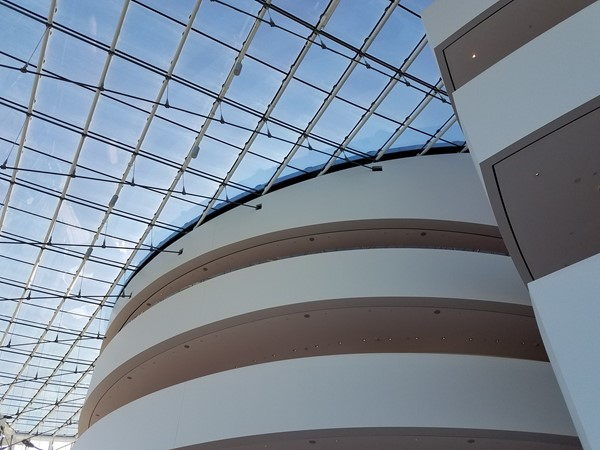 View from inside the Kauffman Center