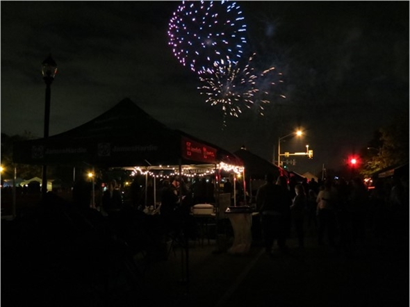 Friday night fireworks at the Lenexa Chili Challenge