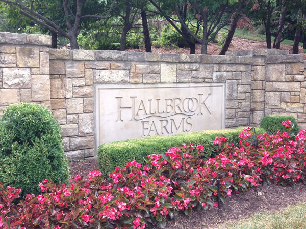 Entrance To Hallbrook Farms In Leawood, Kansas
