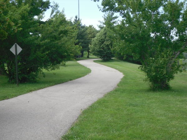 One of many walking trails throughout Kearney