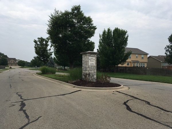 Entrance to Highland Pointe Subdivision