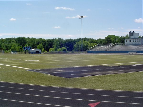Great track and football field at Grain Valley Schools.