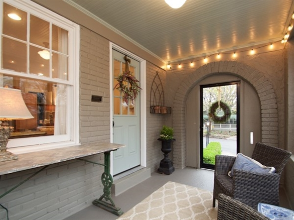 Charming and inviting porch on a Brookside Bungalow