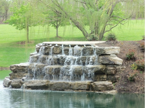 A beautiful water feature in the park area in Lakepointe