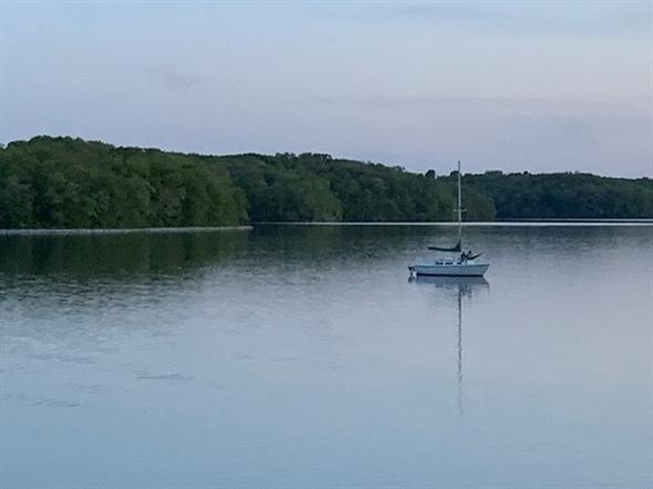 Sailboat on Fleming Park Lake