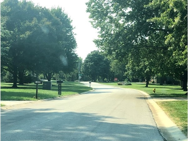 The lovely and well-maintained neighborhood of Quivira Trails