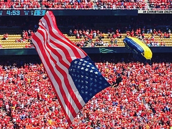 Way to go Navy SEALS! Chiefs Stadium 9/11! Thanks for your sacrifice