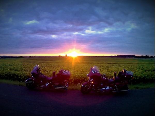 Beautiful sunset in Levasy