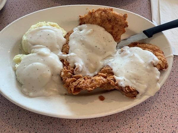 Lone Jack Cafe has amazing chicken fried chicken on special for Tuesdays