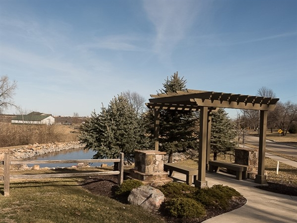 A quiet thinking place to relax at the Enclave at Wooded Lakes