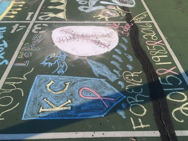 Alexander Doniphan Elementary tailgate and chalk drawing contest